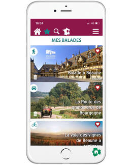 Application Balade en Bourgogne- Beaune