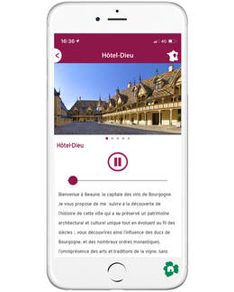 Balade à Beaune - Application Balade en Bourgogne - Visite Hospices de Beaune